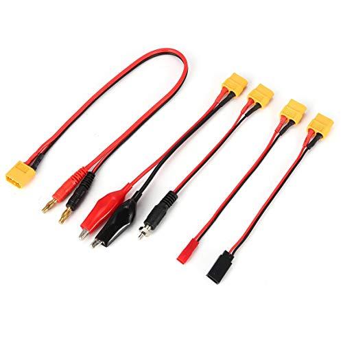 Heaviesk XT60 Stecker Eine Buchse auf 2 Stecker Deans Stecker Kabel Adapter Kabel Konverter Multi Ladestecker Kabel für RC Quadcopter -