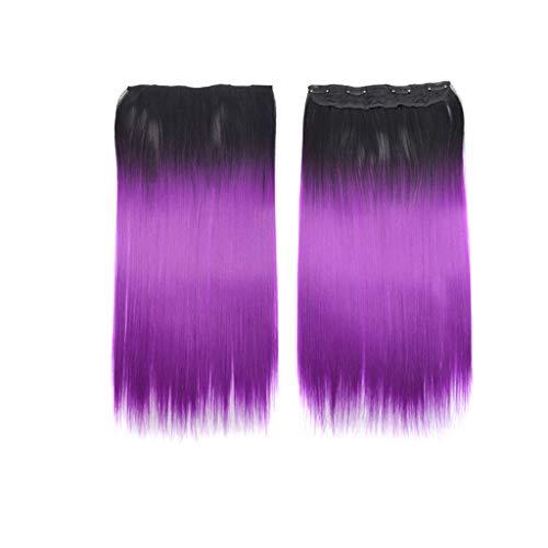 TianWlio Perücken DamenHaarver Längerungen Glattes Haar Erweiterung Langes Haarteil Für die Mode Sexy Frauen