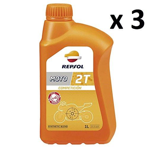 REPSOL Olio Miscela Moto COMPETICION 2T 100% Sintetico 3 Litri RP146Z51