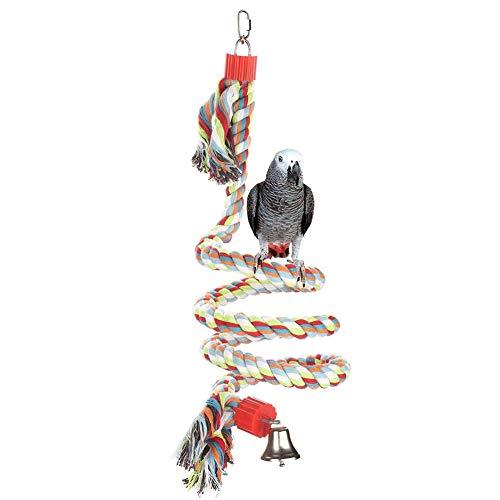 XIYAO Vogel Spirale Seil Barsch, Seil Bungee Vogel Spielzeug Baumwolle Papagei Schaukel Klettern Stehen Spielzeug -