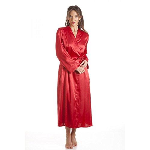 Camille - Robe de chambre de luxe en satin - femme- rouge Rouge