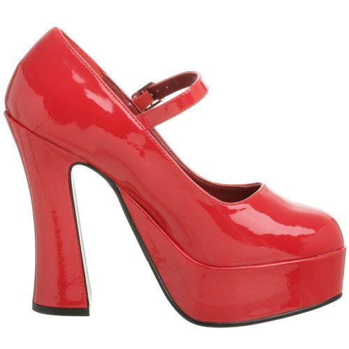 Demonia DOLLY-50 Damen Plateau Pumps Rot (Rot (Red Pat))