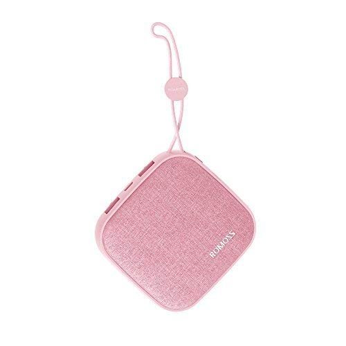 Romoss Style Power Bank 10,000Mah, Candybox 2.1A Dual USB Fabric Portable Charger with Hanging Ring Compatible for iPhone X, Samsung Galaxy S9 and More (Candy Pink)
