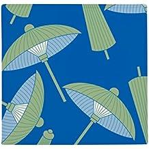 DIYthinker Sombrilla de Papel Verde con patrón de Nube Antideslizante para Mascotas, Cuadrada, para