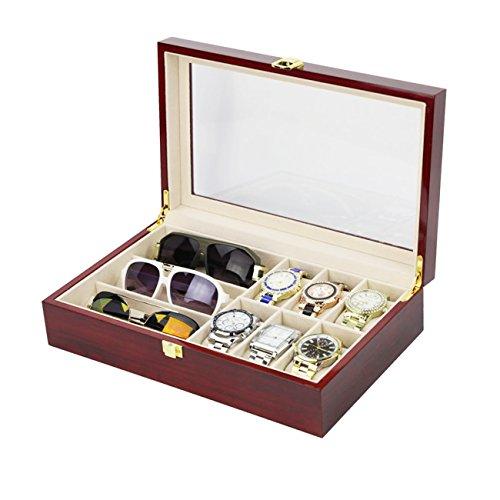 Die Perseiden Watch Box, Watch Aufbewahrungsbox mit Brille Box Sonnenbrille und - Uhrengehäuse Und Sonnenbrille