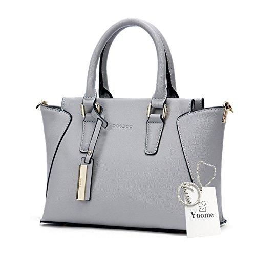 Borse Yoome Wings Top Handle Bags Borse in pelle Borse per Borse Bulk Ladies Portafoglio Casual Borse - Blu Grigio