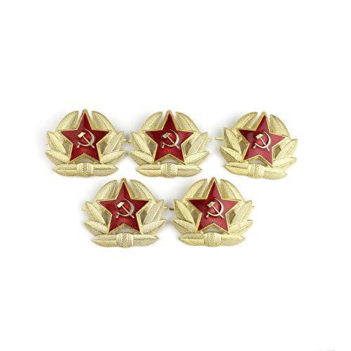 Heka Naturals Kokarda Set von 5 russischen sowjetischen Rote Armee Abzeichen Pin Military Kokarde Kosaken Hut (Abzeichen Russische)