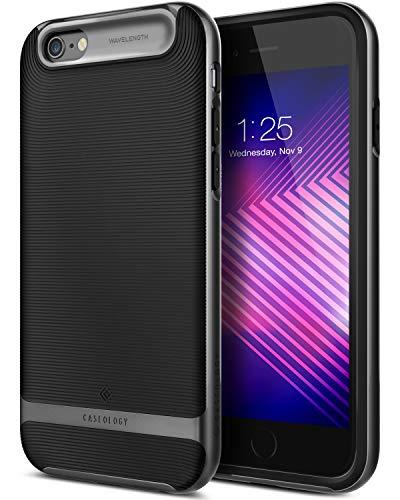 Caseology [Wavelength Series iPhone 6S Plus/iPhone 6 Plus Case - [Stylish & Protective] - Black/Black