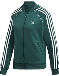 online store 743b5 50a17 adidas SST TT, Felpa Donna, Collegiate Green, 40