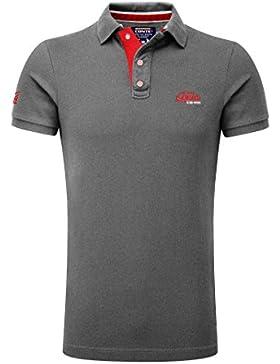 M.Conte Herren Poloshirt Kurzarm Polohemd T-Shirt Polo-Shirt Pique Basic Men's Plain Royal Blau M L XL XXL XXXL...