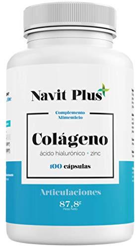 Colágeno hidrolizado. Colágeno + Acido hialurónico + Vitamina C + Zinc, 100 cápsulas....