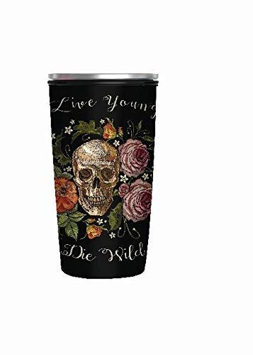 Chic mic Slide Cup Bambus Edelstahl to go Becher Skull
