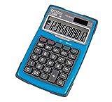 Citizen 7238034 Outdoor 3000 Calculatrice de bureau étanche à énergie solaire et à piles avec 3 boutons Bleu 12 chiffres