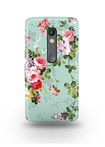Moto X Play Cover,Moto X Play Case,Moto X Play Back Cover,Artistic Floral Pattern Moto X Play Mobile Cover By The Shopmetro-12388