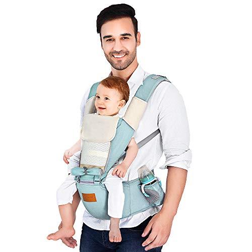 KidoME Babytrage mit Hüfttrage, Bauchtrage, Rückentrage Ergonomische Multifunktion 6 in 1 für baby/neugeborene Kleinkinder/Kinder