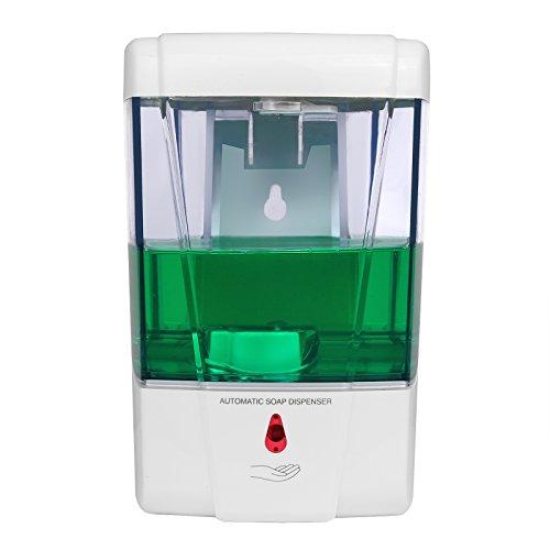 Seifenspender Sensor,LemonBest 600ml Automatische Wand Seifendosierer Lotionspender IR-Sensor Touch-free Seife Lotion Pumpe für Küche Badezimmer Hotel
