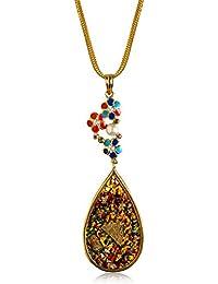 Miranika Gold Plated Pendant for Women (Multi-Colour)(C1D2ASC)