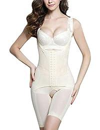 188191e2c2d1f AOQUSSQOA Women Seamless Firm Control Shapewear Faja Open Bust Bodysuit  Body Shaper