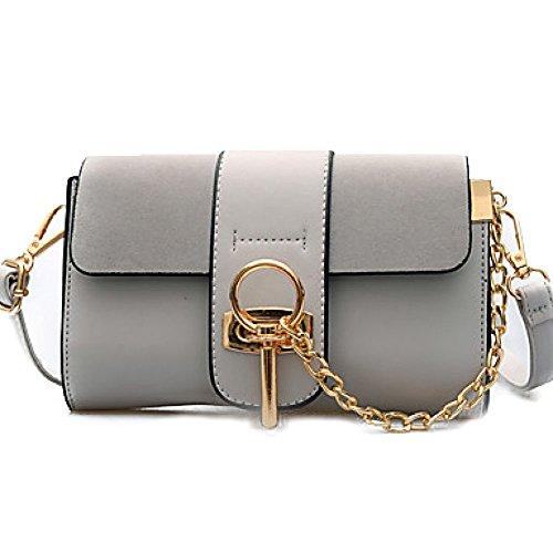 DFUCF Damen PU Büro Beruf Umhängetasche Kuriertasche Handtasche Umhängetasche Mode Lässig Langlebig Klassisch Party Gray