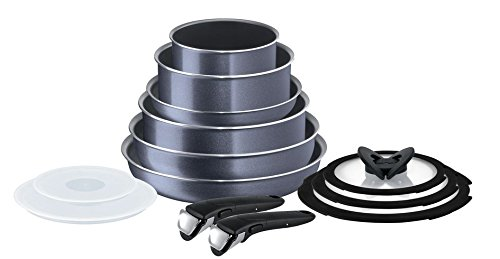 Tefal Ingenio Non-stick Elegance Cookware Set, 13 Pieces, Black
