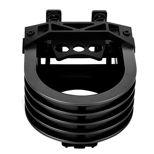 Car Cup Holder - Aluminiumlegierung Cup Holder Car Air Outlet Getränkehalter (Schwarz, Orange oder Silber) (Farbe : Black)