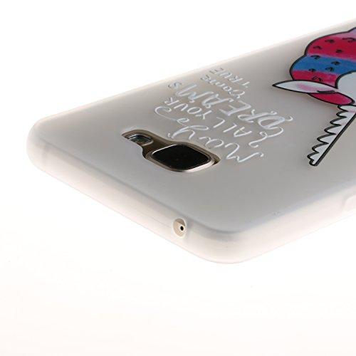 A3 2016 Hülle ,Samsung A3 2016 Shell Case , Galaxy A3 2016 Black Hülle, Cozy Hut® [Liquid Crystal] [Matte Black] [With Lanyard/Strap] Samsung Galaxy A3 2016 Ultra Slim Schutzhülle ,Anti-Scratch Shockp Einhorn