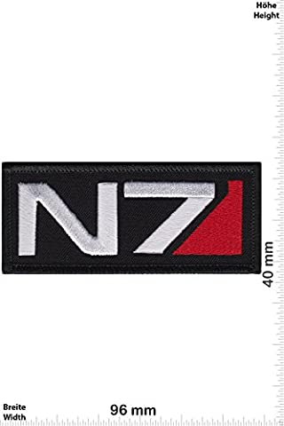 Patches - N7 - Systems Alliance Special Forces - Movie Game Patch - Cartoon - Comic - Vest - Iron on Patch - Applique embroidery Écusson brodé Costume Cadeau- Give Away