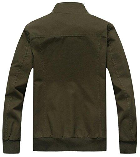 Frühling Herbst Winter Baumwolle Militär Männer Jacke Feldjacke Parka Outdoor Funktionsjacke schlank Herrenjacke Pilotenjacke Schwarz 18