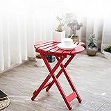 Arredamento Tavolo Tavoli Pieghevoli Terrazza Tavolino Consolle Tavolini Portatile Veranda Cortile Tavoli da Giardino CJC (Colore : Rosso)