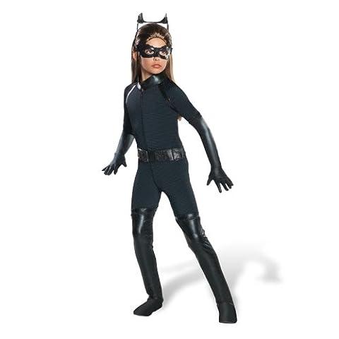 Catwoman The Dark Knight Rises - Kinderkostüm Deluxe - S (Kinder Catwoman-kostüm)
