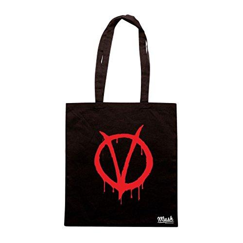 Borsa V For Vendetta Logo - Nera - Film by Mush Dress Your Style