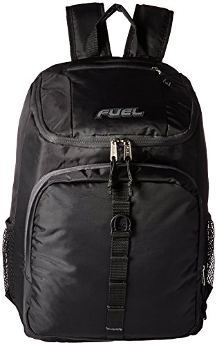 Imagen de fuel  de cargador superior con compartimiento para portátil,  de senderismo,  deportiva,  escolar,  de viaje  negro