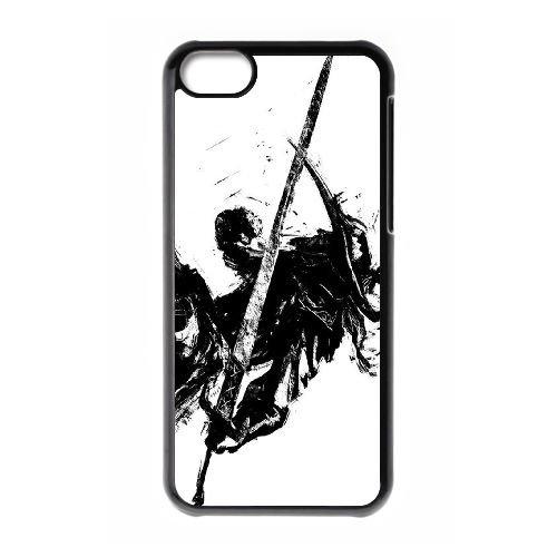 Dark Souls coque iPhone 5C Housse téléphone Noir de couverture de cas coque EBDXJKNBO15311