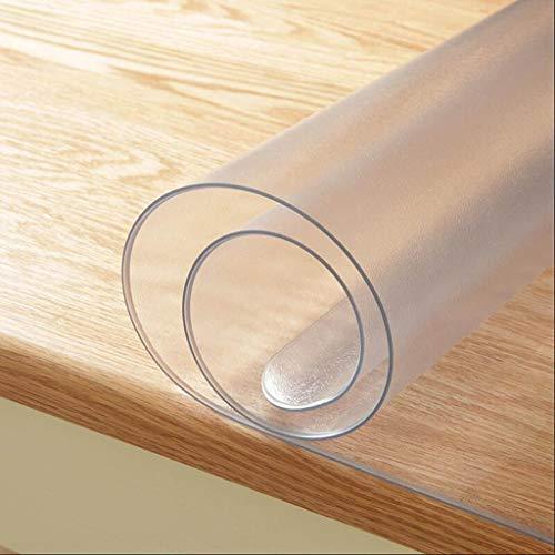 HHCQY PVC-Wasserdichte Einseitige Matte Tischmatte, Weiches Glas Verdickte Kaffeetischmatte Wegwerfbares Ölbeständiges Rechteckiges Pad Stärke 1.6MM