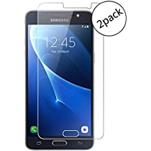 Samsung Galaxy J5 (2016) J510FN Protector de Pantalla, Wrcibo [2 Pack] 9H 0.26mm Premium Vidrio Templado Protector de Pantalla Transparente Cristal Anti-scratch Anti-rasguñe Protector de Pantalla para Samsung Galaxy J5 (2016) J510FN Smartphone