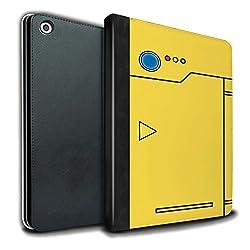 Stuff4® PU-Leder Hülle/Case/Brieftasche für Apple iPad 9.7 (2017) Tablet/Gelb Muster/Anime Cartoon Kodex Kollektion