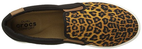 crocs Damen Citlnslpsnkrw Sneakers Mehrfarbig (Leopard/Black)