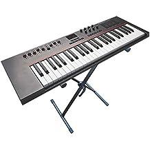 Supporto tastiera (adatto per Yamaha casio Korg roland) tastiera-Pianoforte elettrico piano Pianoforte Digitale Sintetizzatore Stage Piano-Keyboard treppiede piano supporto supporto per treppiede a X ripiano-Modello: KS5