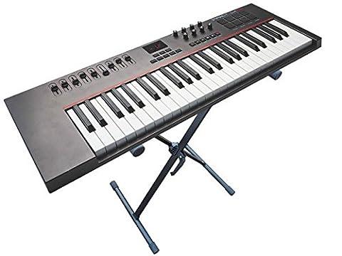 Keyboardständer aus Metall für Keyboard Piano Stagepiano höhenverstellbarer Ständer Modell: KS5