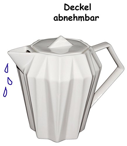 3-D Design - Teekanne / Kaffeekanne -  Weißer Kristall / Kensington  - Gastr..