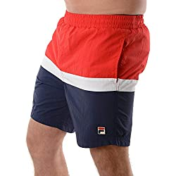 Fila Hombre Peter Color Block Swimshorts, Azul, XL