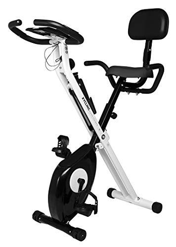 Miweba Sports Indoor Xycling X-Bike Fitnessbike - 3 Kg Schwungmasse - Pulsmessung - 8 Widerstandsstufen - App Funktion (Schwarz Weiß)