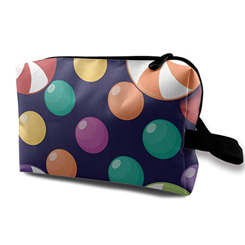 Halloween Seamless with Small Desserts Small Travel Toiletry Bag Super Light Toiletry Organizer for Overnight Trip Bag