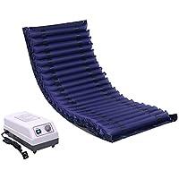 Colchón de presión alterna Jet Wave Care Anti-decúbito colchón de Aire Topper Pad para la Bomba de Dolor de Cama Ajustable, prevención de úlceras, Tratamiento postrado,NoHole