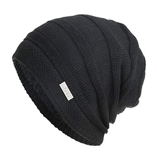 Yvelands Unisex Strickm¨¹TZE Hedging Head Hat Beanie M¨¹TZE(Schwarz,One Size)