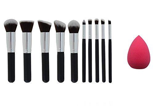 JVJ 10pcs kit de maquillage Outils cosmétiques fard à paupières Teint Pinceaux Ensembles Poudre Makeup Blender