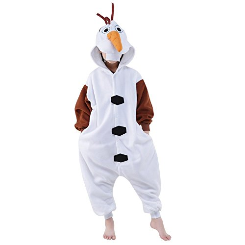 Kostüm Olaf Halloween - Finewlo Halloween Unisex Tier Pyjama Kind Cosplay Kostüm, Olaf, 115
