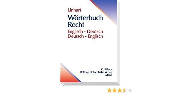 Wörterbuch Recht Englisch Deutschdeutsch Englisch Amazonde