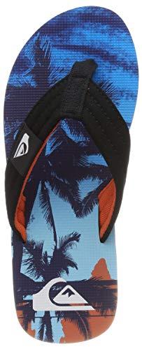 Quiksilver Molokai Layback, Scarpe da Spiaggia e Piscina Bambino, Blu (Black/Orange/Blue Xknb), 32 EU