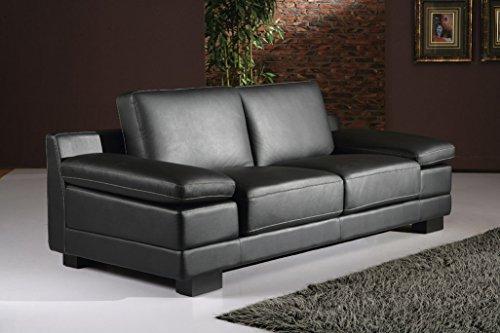 Designer Leder-Sofa-3 Sitzer Garnitur Bett-Couch 402-3-S - 2